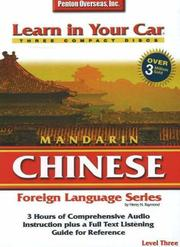 Cover of: Learn in Your Car Mandarin Chinese Level 3 (Learn in Your Car)