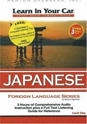 Cover of: Learn in Your Car Japanese Level One (Learn in Your Car)