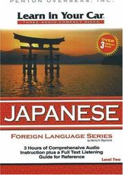 Cover of: Learn in Your Car Japanese Level 2 (Learn in Your Car)