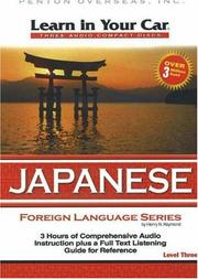 Cover of: Learn in Your Car Japanese Level Three (Learn in Your Car)