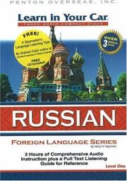 Cover of: Learn in Your Car Russian Level One (Learn in Your Car)