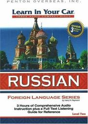 Cover of: Learn in Your Car Russian Level Two (Learn in Your Car)