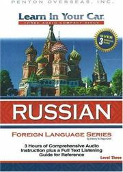 Cover of: Learn in Your Car Russian Level Three (Learn in Your Car)