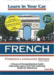 Cover of: Learn in Your Car French Level One (Learn in Your Car)