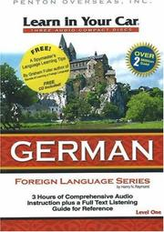 Cover of: Learn in Your Car German Level One (Learn in Your Car: Foreign Language)