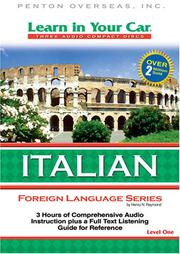 Cover of: Learn in Your Car Italian Level One (Learn in Your Car)