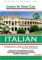 Cover of: Learn in Your Car Italian Level Three (Learn in Your Car Foreign Language Series)