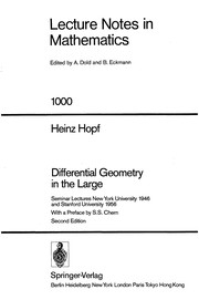 Cover of: Differential geometry in the large