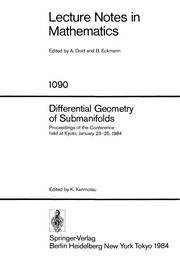 Cover of: Differential geometry of submanifolds
