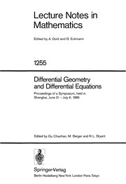 Cover of: Differential Geometry and Differential Equations |