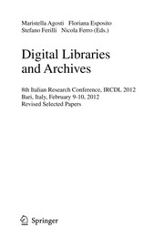 Cover of: Digital Libraries and Archives | Maristella Agosti
