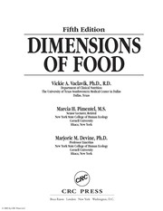 Cover of: Dimensions of food | Vickie Vaclavik