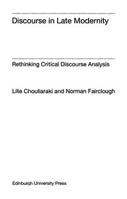 Cover of: Discourse in Late Modernity