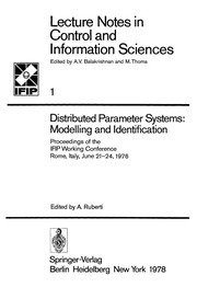 Cover of: Distributed Parameter Systems: Modelling and Identification