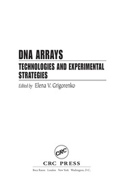 Cover of: DNA arrays |