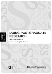 Cover of: Doing postgraduate research