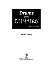 Cover of: Drums for dummies | Jeff Strong