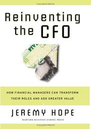 Cover of: Reinventing the CFO | Jeremy Hope