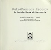 Cover of: Duke/Peacock Records | Galen Gart