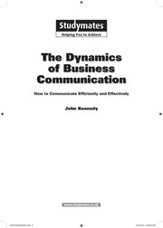 Cover of: The dynamics of business communication | Kennedy, John