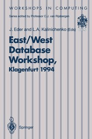 Cover of: East/West Database Workshop | International East/West Database Workshop (2nd 1994 Klagenfurt, Austria)