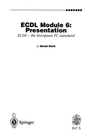 Cover of: ECDL Module 6: Presentation | David Stott