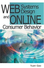 Cover of: Web Systems Design and Online Consumer Behavior | Gao, Yuan
