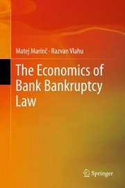 Cover of: The economics of bank bankruptcy law | Matej Marinc