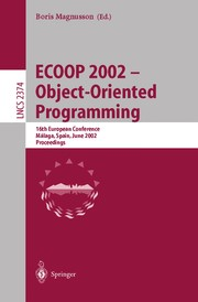Cover of: ECOOP 2002 -- Object-Oriented Programming | Boris Magnusson