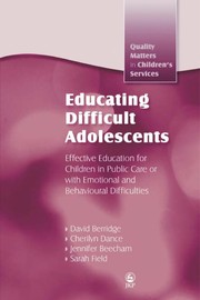 Cover of: Educating difficult adolescents |