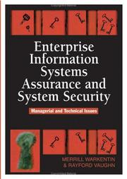 Cover of: Enterprise Information Systems Assurance and System Security |