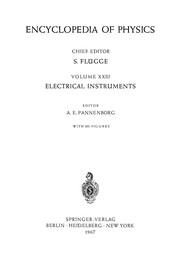 Cover of: Electrical Instruments / Elektrische Instrumente | A. E. Pannenborg