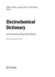 Cover of: Electrochemical Dictionary | Allen J. Bard