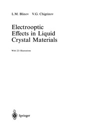 Cover of: Electrooptic Effects in Liquid Crystal Materials | L. M. Blinov
