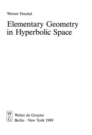 Cover of: Elementary geometry in hyperbolic space