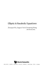 Cover of: Elliptic & parabolic equations