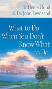 Cover of: What to Do When You Don