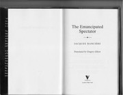 Cover of: The emancipated spectator | Jacques RanciГЁre