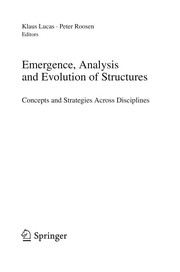Cover of: Emergence, analysis, and optimization of structures