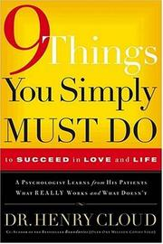 Cover of: Things You Must Simply Do to