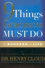Cover of: 9 Things Graduates Must Do