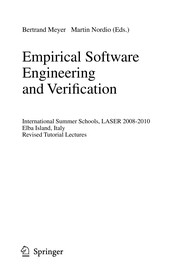 Cover of: Empirical Software Engineering and Verification | Bertrand Meyer-Stabley