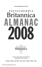 Cover of: Encyclopaedia Britannica almanac 2008 | Encyclopaedia Britannica, Inc