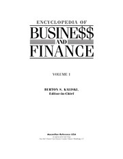 Cover of: Encyclopedia of busine$$ and finance