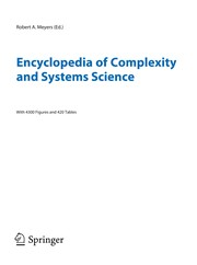 Cover of: Encyclopedia of complexity and systems science |
