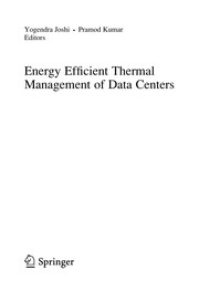 Cover of: Energy Efficient Thermal Management of Data Centers | Yogendra Joshi