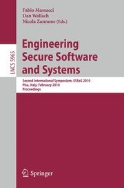 Cover of: Engineering secure software and systems | ESSoS 2010 (2010 Pisa, Italy)