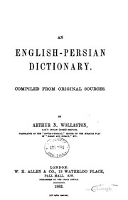 Cover of: An English-Persian dictionary | Arthur N. Wollaston
