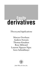 Cover of: Equity derivatives |