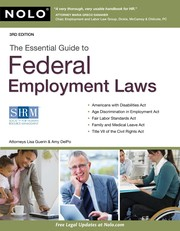 Cover of: The essential guide to federal employment laws | Lisa Guerin